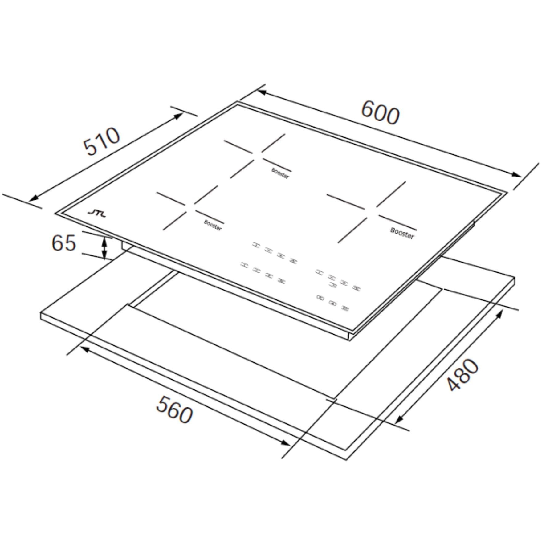 JT-IH338R 智能連動微晶調理爐(即將上市)-JT-IH338R